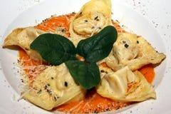 Pastas de Tortelloni Fotografía de archivo libre de regalías