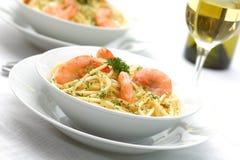 Pastas del camarón Imagen de archivo libre de regalías