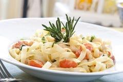 Pastas del camarón Imagenes de archivo