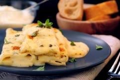Pastas del Cannelloni Imagenes de archivo
