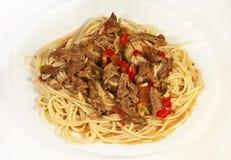 Pastas del espagueti Foto de archivo