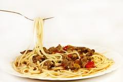 Pastas del espagueti Fotografía de archivo libre de regalías