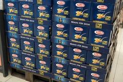 Pastas del italiano de la barrilla fotos de archivo libres de regalías