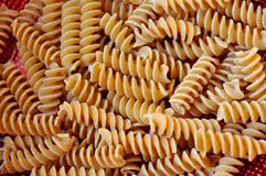 Pastas del trigo integral Imagen de archivo libre de regalías