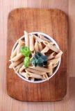 Pastas del trigo integral Fotos de archivo libres de regalías