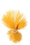 Pastas derechas del espagueti, tapa Foto de archivo libre de regalías