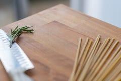 Pastas e hierbas Imagen de archivo libre de regalías