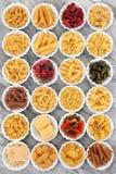 Pastas en el mármol Foto de archivo