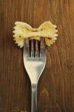 Pastas en fork Fotografía de archivo