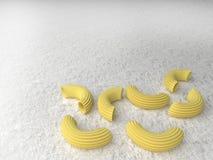Pastas en un fondo ligero representaci?n 3d ilustración del vector