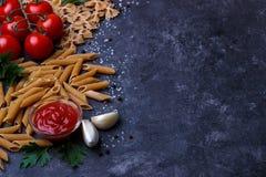 Pastas enteras del grano Imagen de archivo libre de regalías