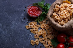 Pastas enteras del grano Fotografía de archivo libre de regalías