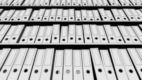Pastas esboçado preto e branco múltiplas do escritório Opinião de baixo ângulo rendição 3d Imagens de Stock