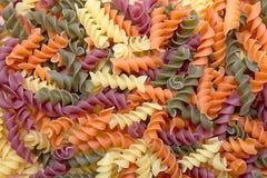 Pastas espirales de la quinoa Fotografía de archivo