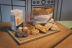 Pastas frescas en el espacio de Ventura Lambrate durante la semana de Milan Design Imagenes de archivo