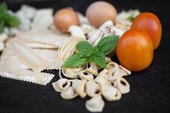 Pastas frescas hechas a mano Imagen de archivo libre de regalías