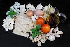 Pastas frescas hechas a mano Fotografía de archivo libre de regalías