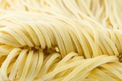 Pastas frescas (tagliolini) Imagen de archivo