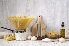Pastas hechas en casa Imágenes de archivo libres de regalías