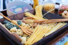 Pastas italianas Foto de archivo