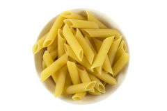 Pastas italianas aisladas en blanco Foto de archivo