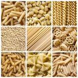 Pastas italianas - collage Foto de archivo