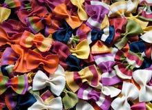 Pastas italianas coloreadas Foto de archivo libre de regalías
