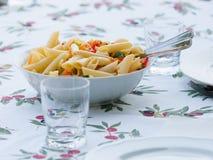Pastas italianas coloridas Fotografía de archivo libre de regalías