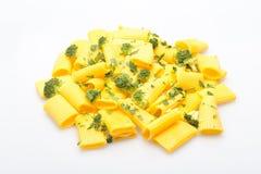 Pastas italianas con bróculi fotografía de archivo