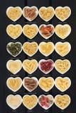Pastas italianas con títulos imágenes de archivo libres de regalías