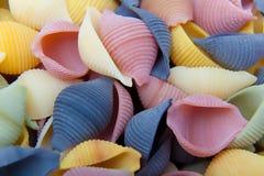 Pastas italianas crudas Foto de archivo libre de regalías
