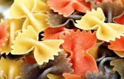 Pastas italianas crudas del farfalle Foto de archivo libre de regalías
