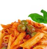 Pastas italianas del alimento Imágenes de archivo libres de regalías