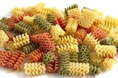 Pastas italianas del espiral formadas Foto de archivo