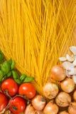 Pastas italianas - espagueti Imagen de archivo