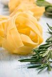 Pastas italianas frescas Foto de archivo libre de regalías