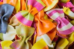Pastas italianas hechas a mano tradicionales del farfalle Imagen de archivo libre de regalías