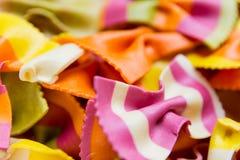 Pastas italianas hechas a mano tradicionales del farfalle Foto de archivo libre de regalías