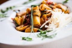 Pastas italianas - Paccheri Imagen de archivo libre de regalías