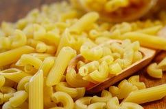 Pastas italianas Pastas secas Fotografía de archivo