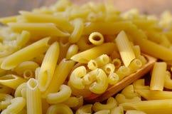 Pastas italianas Pastas secas Imagen de archivo