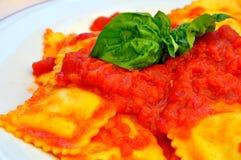 Pastas italianas: raviolis Imagen de archivo