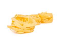 Pastas italianas: tagliatelle foto de archivo libre de regalías