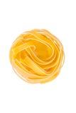 Pastas italianas: tagliatelle imagen de archivo