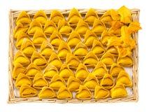Pastas italianas, tortelloni de la calabaza Fotografía de archivo