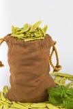 Pastas italianas vaciadas del bolso Foto de archivo libre de regalías