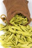 Pastas italianas vaciadas del bolso Fotografía de archivo
