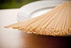 Pastas secadas del espagueti Imagen de archivo libre de regalías