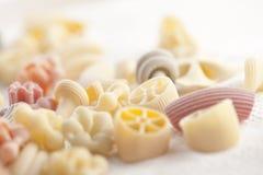 Pastas sin procesar hechas a mano italianas Imagen de archivo