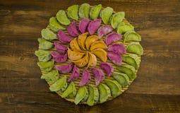 Pastas tradicionales chinas, bolas de masa hervida Fotografía de archivo libre de regalías
